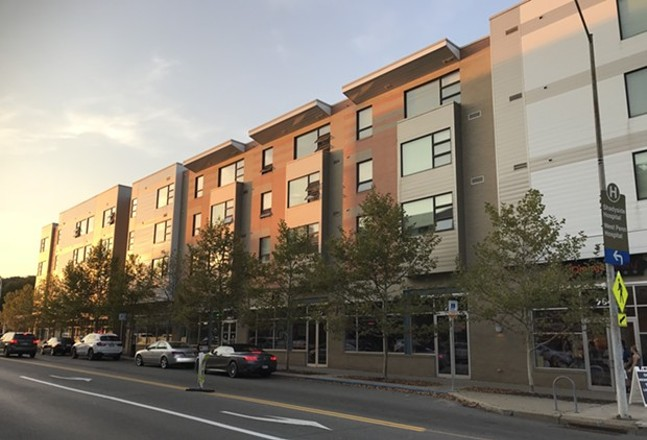 Mix-use affordable housing in East Liberty - CP PHOTO: RYAN DETO