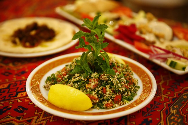 Tabollli (parsley salad) at Khalil's - CP PHOTO: JARED WICKERHAM