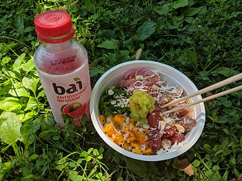 Tuna poke bowl from Just Roll'd Up - CP PHOTO: LISA CUNNINGHAM