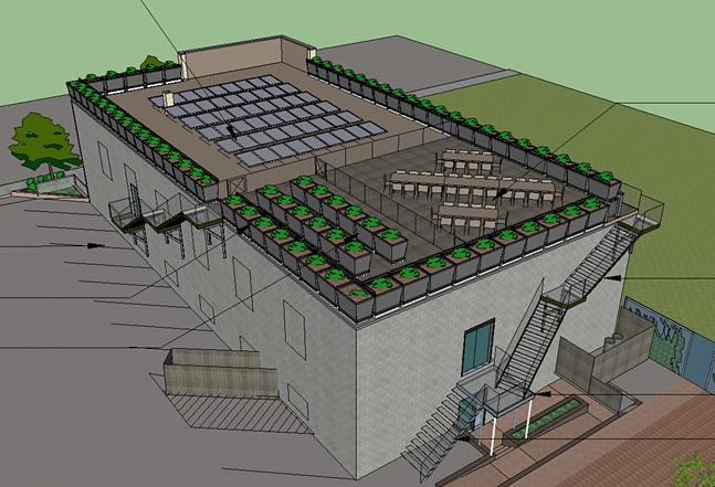 Rendering of Spirit's Rooftop Garden project - PHOTO: SPIRIT