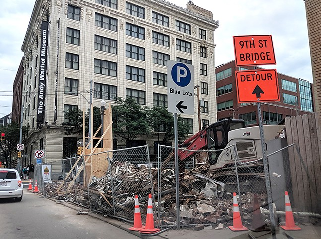 The demolished Rosa Villa building on Pittsburgh's North Side - CP PHOTO: LISA CUNNINGHAM