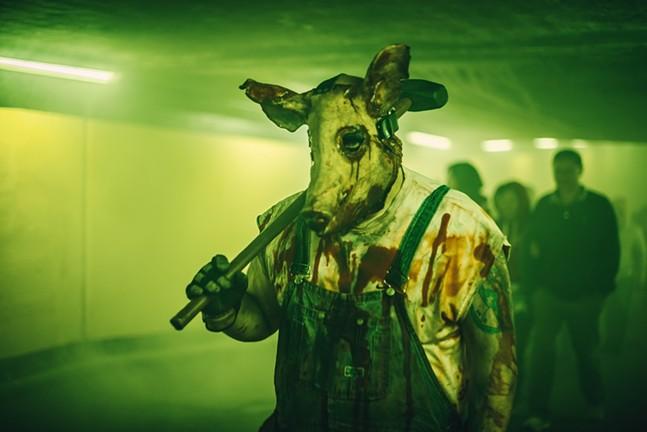 Tunnel monster at Kennywood's Phantom Fright Nights - PHOTO: JAYSON CASSIDY