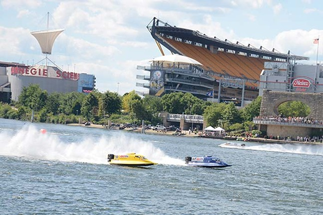 Racing boats from a past Three Rivers Regatta - CP PHOTO: STEPHEN CARUSO