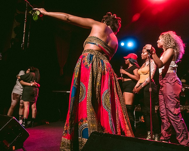 Pittsburgh's Very Own performers on stage at Mr. Smalls Theatre - CP PHOTO: ERIN ALLPORT