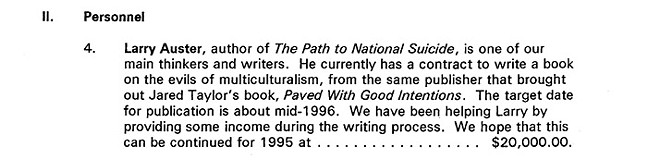Screenshot from the 1995 correspondence sent to Pittsburgh City Paper