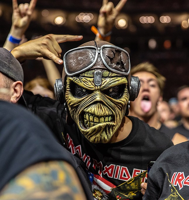 An Iron Maiden fan dressed as Eddie at the band's sold-out show at PPG Paints Arena on Sat., Aug. 17 - CP PHOTO: MIKE PAPARIELLA