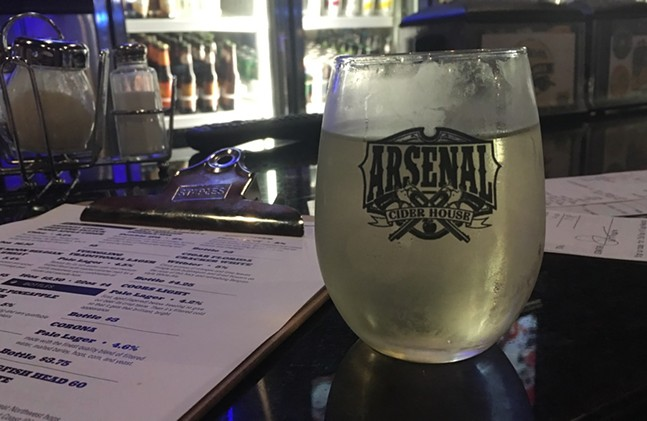 Arsenal Grierson's Ginger Cider at Italina VIllage Pizza - CP PHOTO: AMANDA WALTZ