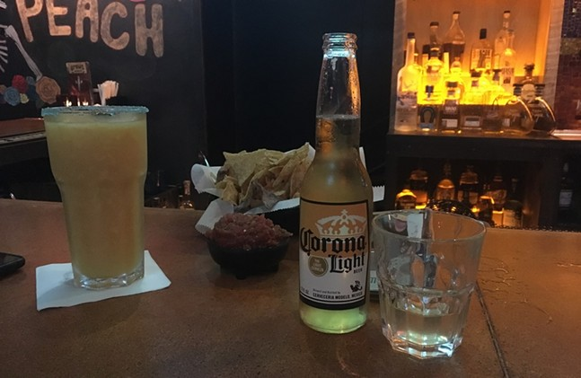 Corona Light and Sauza tequila at Mad Mex - CP PHOTO: AMANDA WALTZ