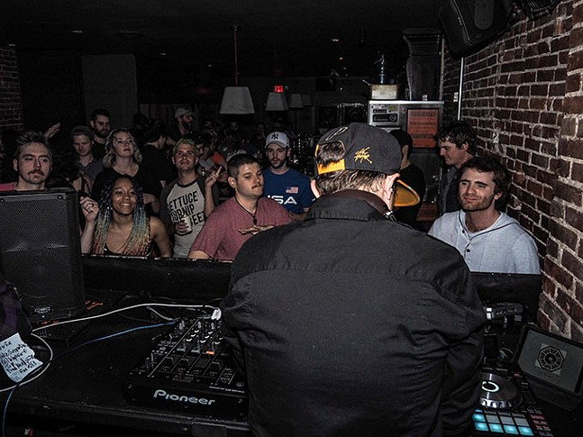 DJ Joe FArkas at Bassburgh's monthly event at The Goldmark - G'd Up & Teched Out - PHOTO: MOONGLADE MEDIA