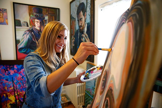 Rachel Dawn Renaudin at work in her home studio. - CP PHOTO: JARED WICKERHAM