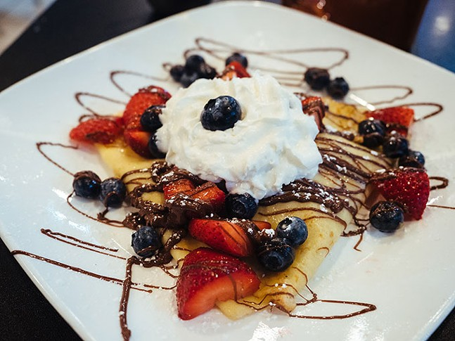 Nutella Crepes at Square Café - CP PHOTO: JARED MURPHY