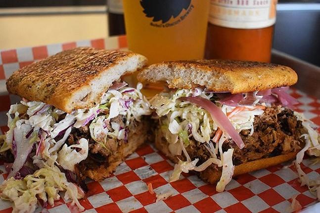 The Admiral pulled-pork sandwich - CP PHOTO: JARED WICKERHAM