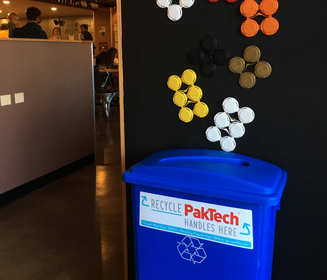 PakTech collection bin at East End Brewing Company - PHOTO: EAST END BREWING COMPANY