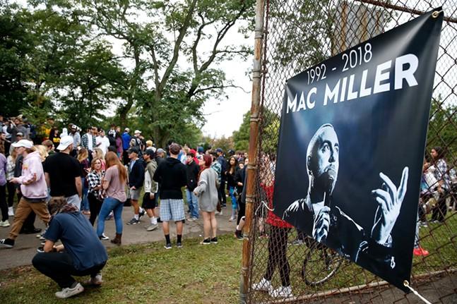 The Mac Miller vigil at Blue Slide Park inside Frick Park on Tuesday, September 11, 2018 - CP PHOTO: JARED WICKERHAM