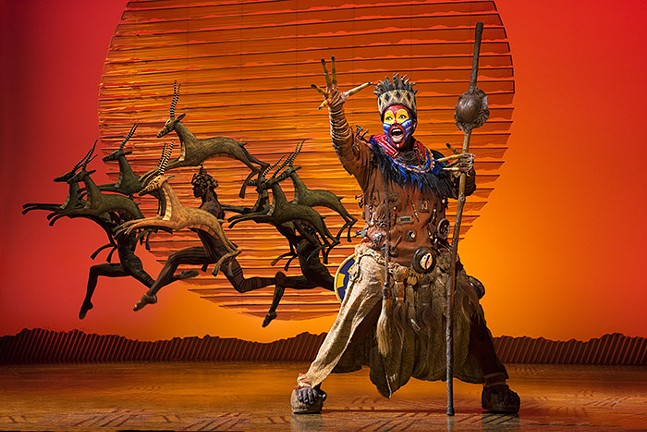 The stage performance of The Lion King continues to roar