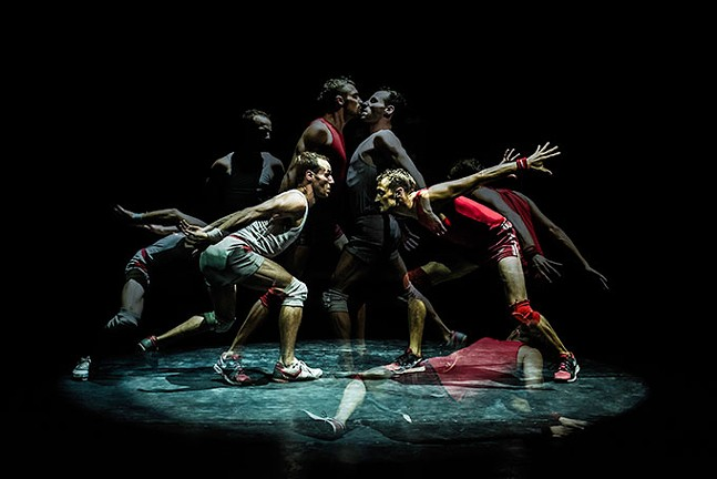 Un Poyo Rojo incorporates dance, comedy, and wrestling into an acrobatic show that defies stereotypes
