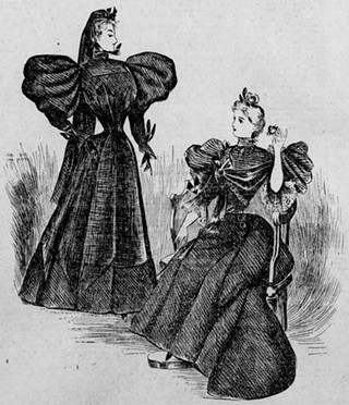 """Modish Mourning Attire,"" published in The Times, Philadelphia on Dec. 15, 1895."