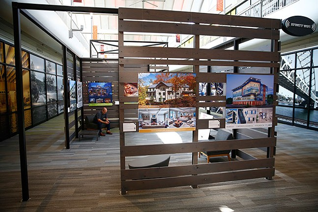 The American Institute of Architects exhibit on display inside Nova Place - CP PHOTO: JARED WICKERHAM