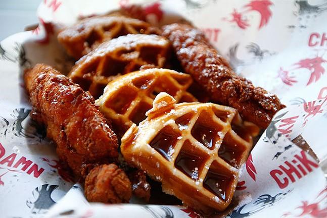 Chicken and waffles - CP PHOTO: JARED WICKERHAM