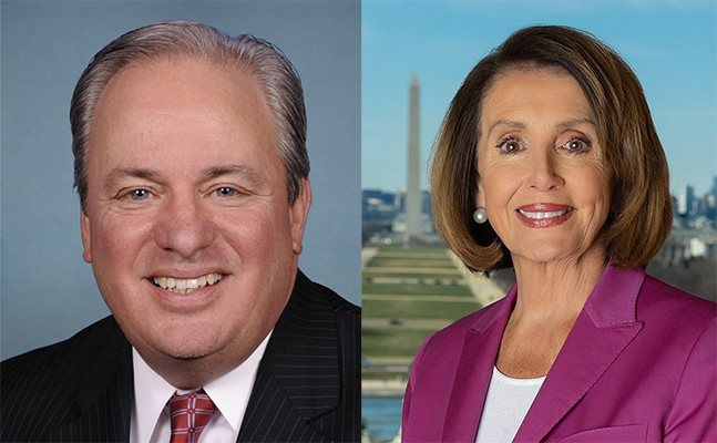 Mike Doyle and Nancy Pelosi