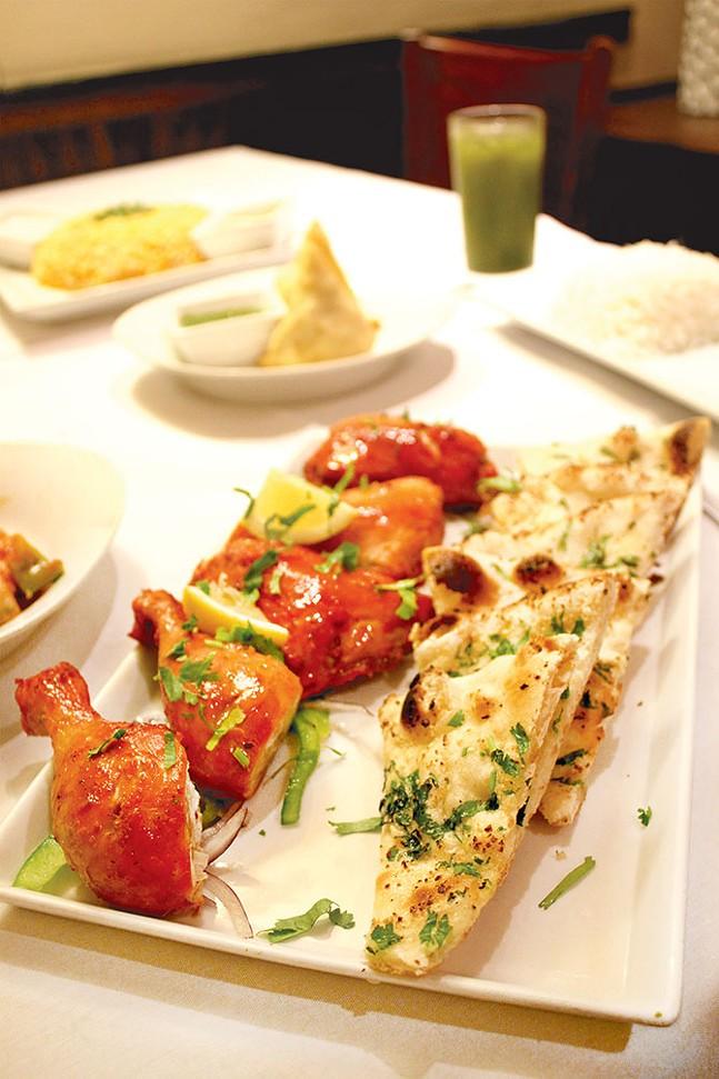Tandoori chicken and garlic nan - CP PHOTO: JOIE KNOUSE