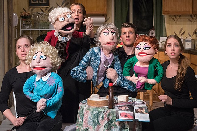 The puppets and puppeteers of That Golden Girls Show! - RUSS ROWLAND