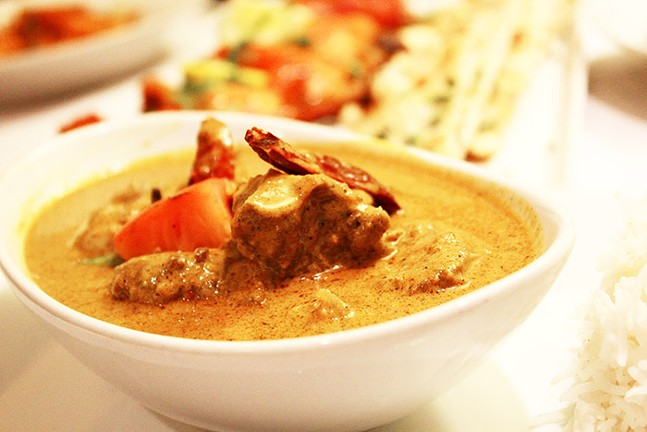Korma served with rice at Masala House Indian Bistro - CP PHOTO: JOIE KNOUSE