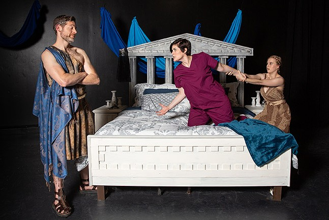 Allan Snyder, Drew Leigh Williams, and Elizabeth Boyke in Not Medea - - PHOTO: MARK SIMPSON