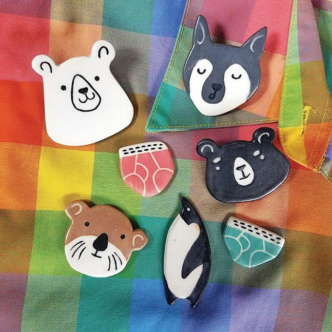 Ceramic animal magnets by Milo Berezin
