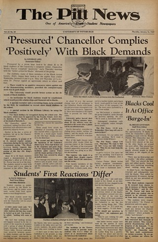 The Pitt News story on agreement between Black Action Society and Pitt, published Jan. 16, 1969 - PHOTO: UNIVERSITY OF PITTSBURGH ARCHIVES, UNIVERSITY LIBRARY SYSTEM