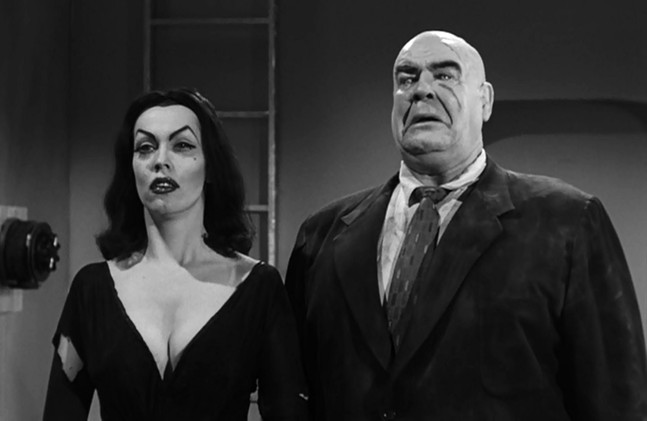 Vampira (left) and Tor Johnson (right) as the walking dead in Plan 9 from Outer Space