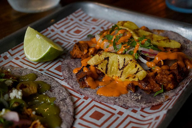 Al pastor taco at Tocayo - CP PHOTO: JOIE KNOUSE