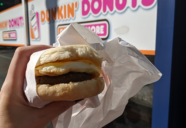 Dunkin' Beyond Sausage Sandwich - CP PHOTO: AMANDA WALTZ