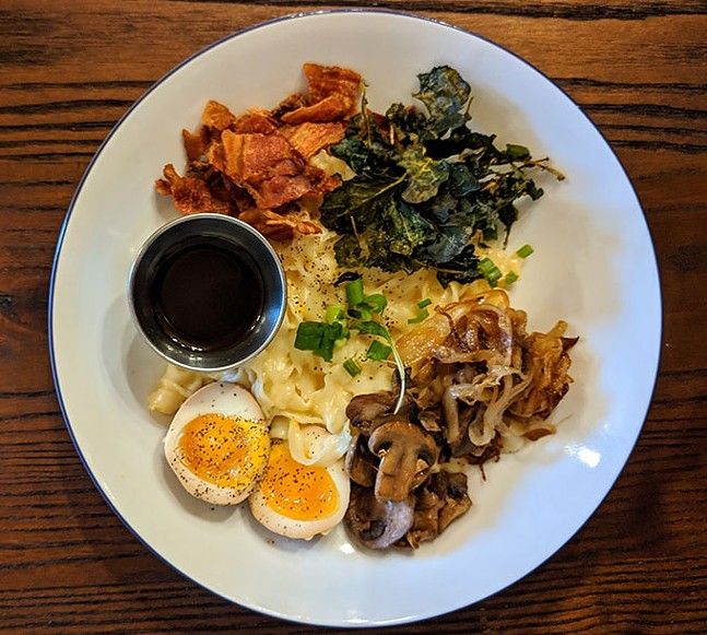Breakfast noodles at Lola's - CP PHOTO: MAGGIE WEAVER