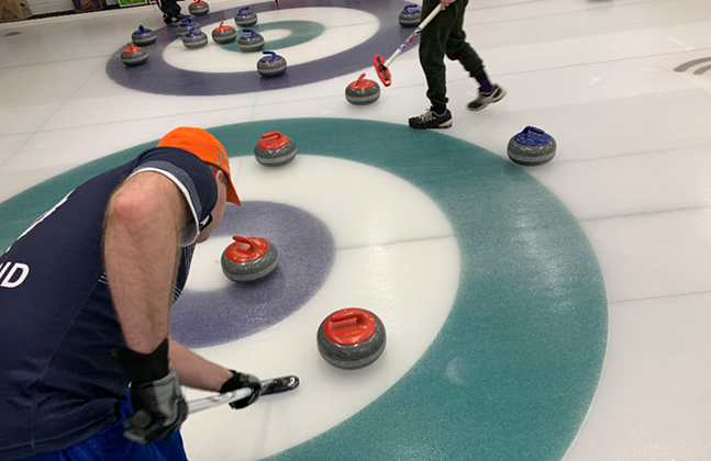Sliders Curling will offer an accessible version of the winter game played here by Pittsburgh Curling Club. - PHOTO: PITTSBURGH CURLING CLUB