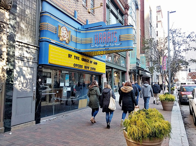 The Harris Theater in Downtown Pittsburgh on Mon., Nov. 25 - CP PHOTO: ABBIE ADAMS