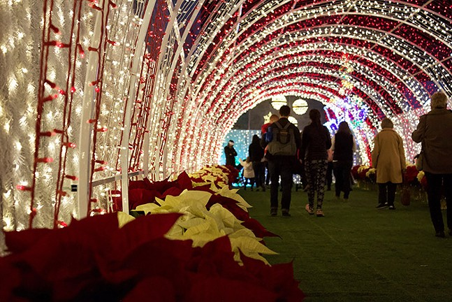 The light-up candy cane tunnel - CP PHOTO: JOIE KNOUSE