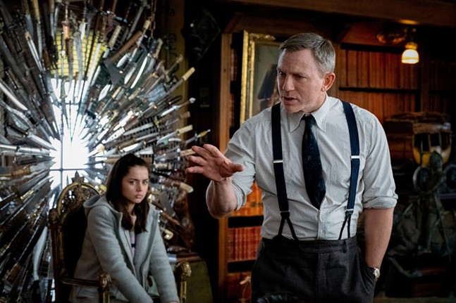 Ana de Armas and Daniel Craig in Knives Out - LIONSGATE/CLAIRE FOLGER