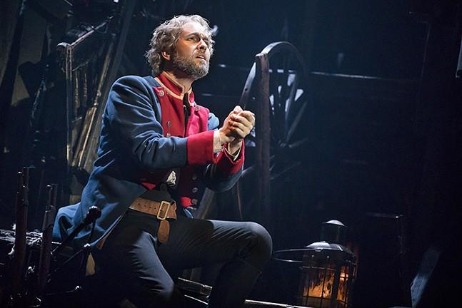 Nick Cartell as Jean Valjean in Les Misérables - PHOTO: MATTHEW MURPHY