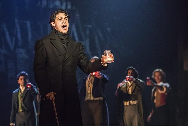 Joshua Grosso as Marius in Les Misérables - PHOTO: MATTHEW MURPHY