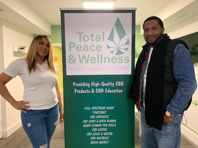 Rhonda Broadway (left) and Carlos Smith (right) owners of Total Peace & Wellness - PHOTO: RHONDA BROADWAY