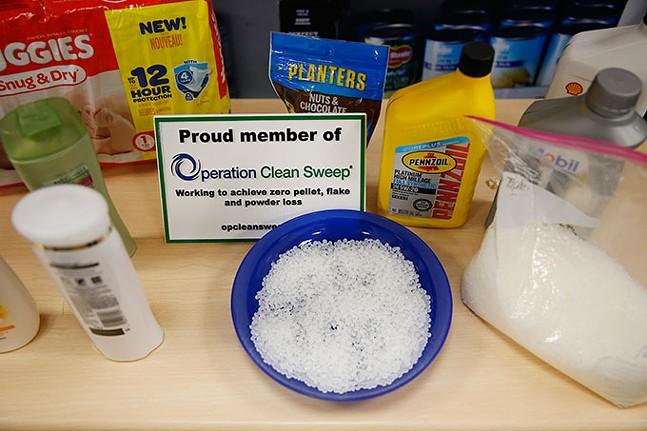 The plastic pellets created at cracker plants - CP PHOTO: JARED WICKERHAM // PACKAGING DESIGN: ABBIE ADAMS