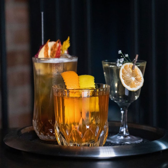 Commerce Bar specializes in Prohibition-era drinks and in-house creations