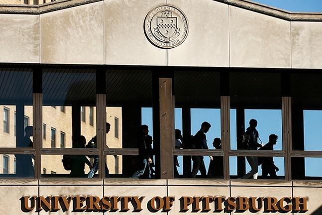University of Pittsburgh campus in Oakland - CP PHOTO: JARED WICKERHAM