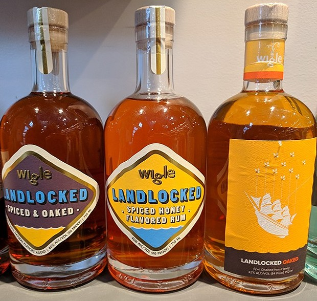 Three spiced rums from Wigle Whiskey - CP PHOTO: MAGGIE WEAVER