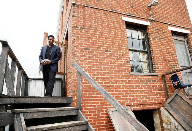 Fences star Denzel Washington at the Hill House in Pittsburgh - CP PHOTO: JARED WICKERHAM