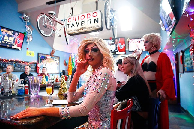 Miss V performs during Franks N' Queens drag brunch at Frank's Bar and Grill in Shadyside on Sat., Jan. 4. - CP PHOTO: JARED WICKERHAM