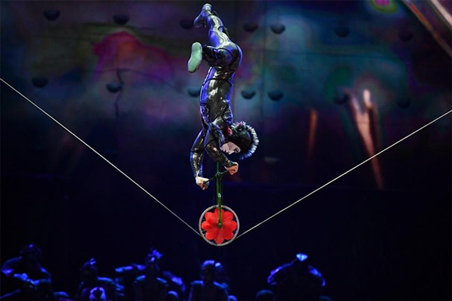 Slack Wire performer at Cirque du Soleil OVO