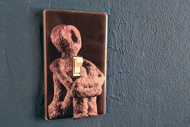 Light switch art from Cheryl Capezzuti's Discarded - CP PHOTO: LISA CUNNINGHAM