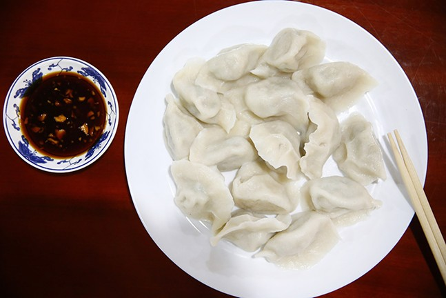 Pork and cabbage dumplings from Northeastern Kitchen - CP PHOTO: JARED WICKERHAM